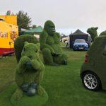 artificial grass animals gorilla & squirrel