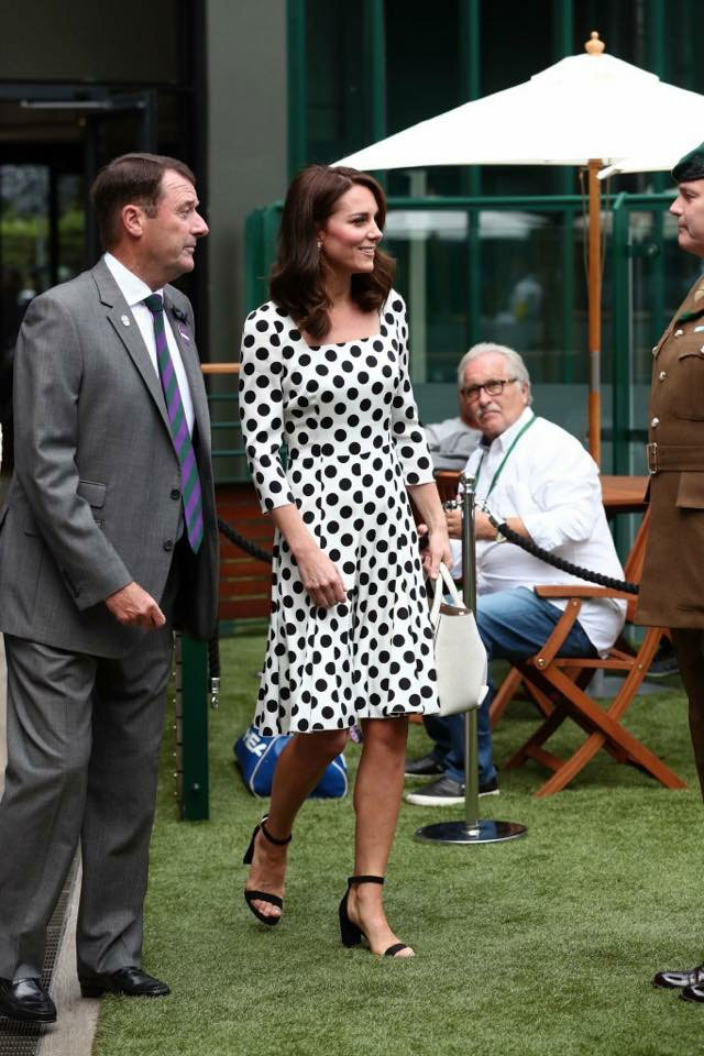 Duchess of Cambridge at Wimbledon 2017 walking on artificial grass