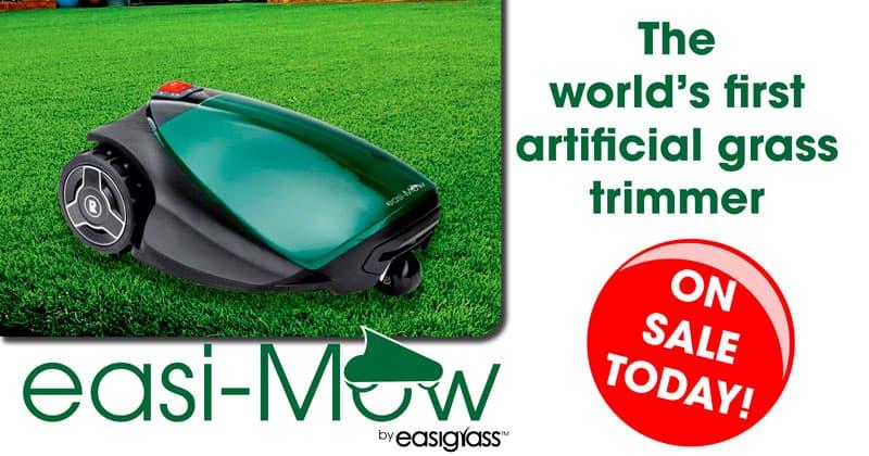 Worlds first artificial grass trimmer