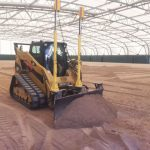 groundwork for synthetic football field installation