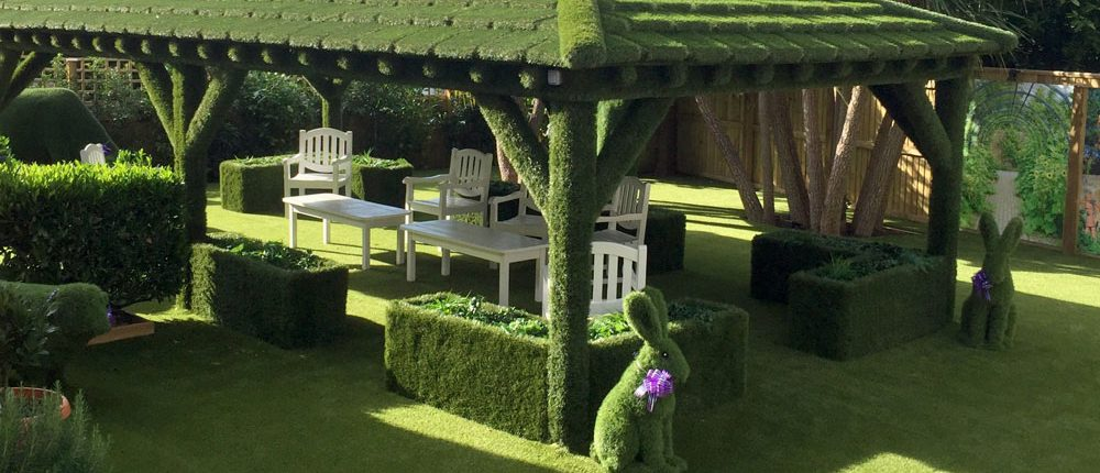 Easigrass gazebo at care home