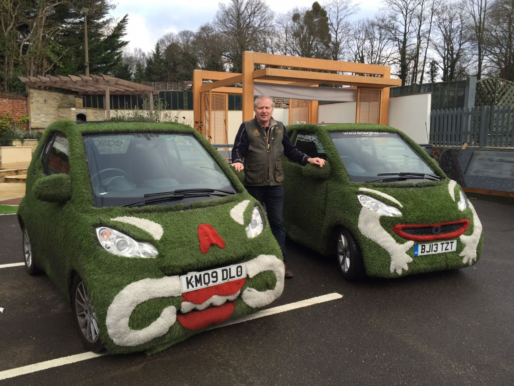 Surrey artificial grass car
