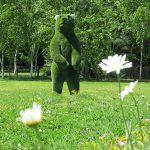Artificial grass bear