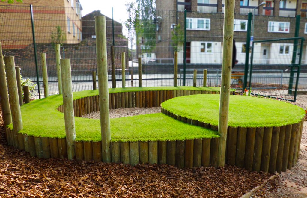 artificial grass school playground