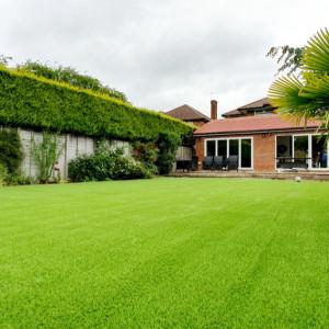 low maintenance artificial grass garden
